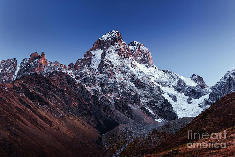 Altitude Photograph - Fantastic Scenery And Snowy Peaks In by Standret