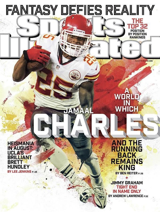 Fantasy Defies Reality A World In Which Jamaal Charles And Sports Illustrated Cover Photograph by Sports Illustrated