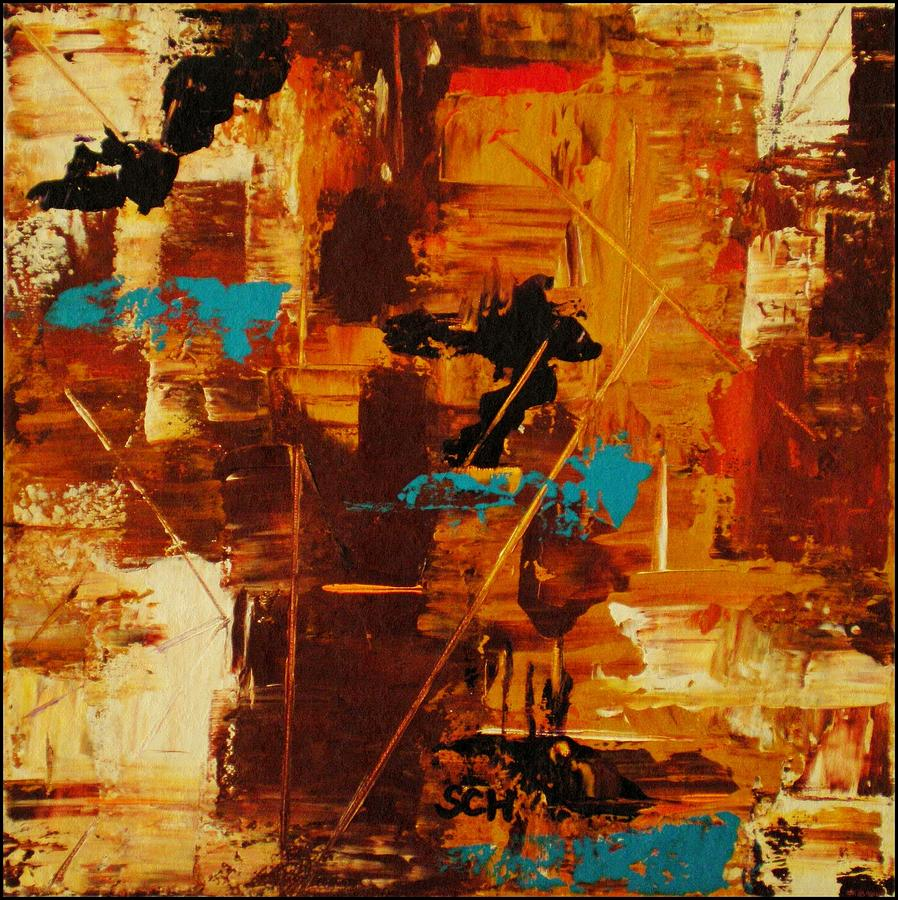 Abstract Mixed Media - Far Away And Long Ago by Scott Haley