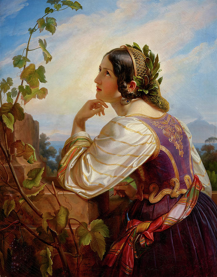 Far Away Painting - Far Away Thoughts by Carl Christian Vogel von Vogelstein