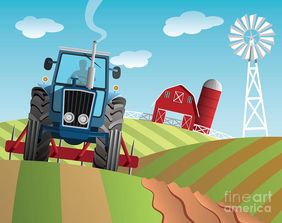 Usa Digital Art - Farm Background by Nikola Knezevic