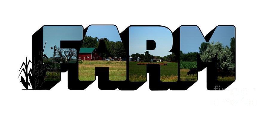 Farm Big Letter by Colleen Cornelius