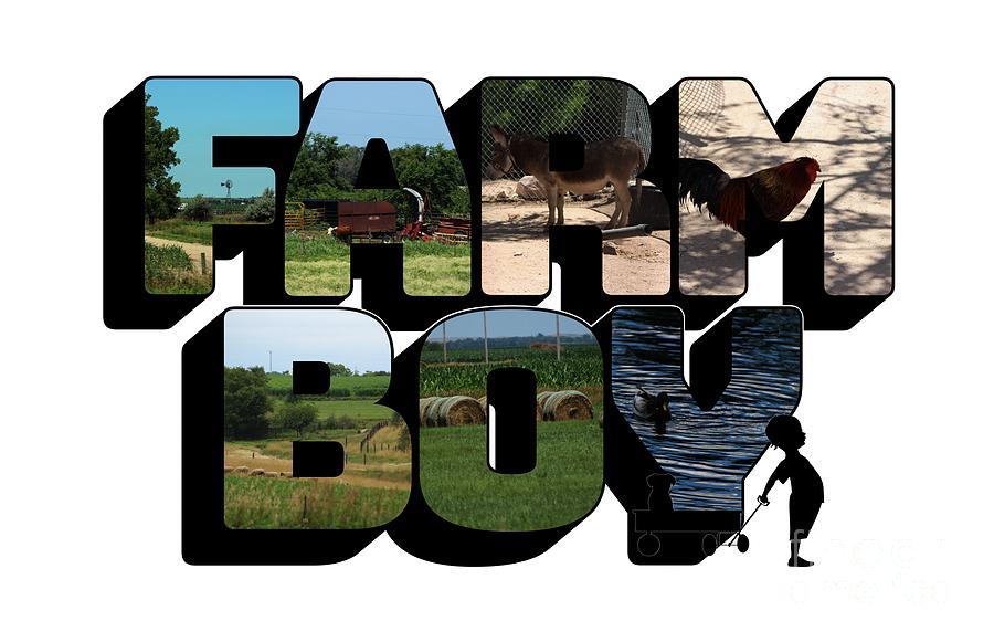 Farm Boy Big Letter 2  by Colleen Cornelius