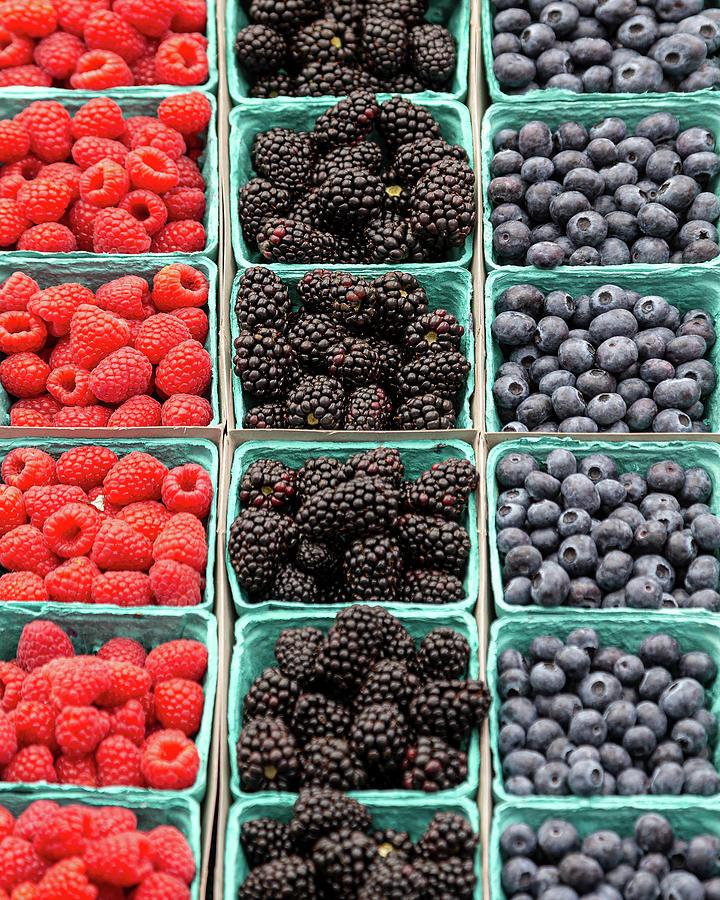 Farm Fresh Berries by Peter Tellone