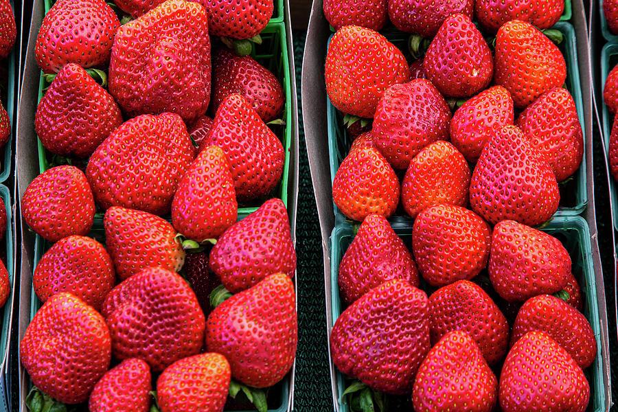 Farm Fresh Strawberries by Peter Tellone