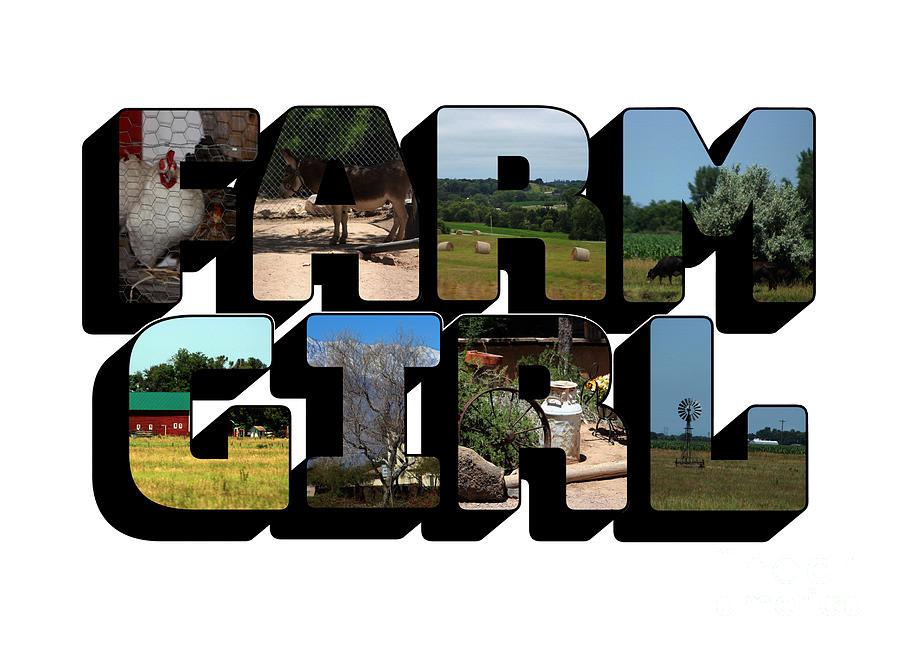 Farm Girl Big Letter by Colleen Cornelius