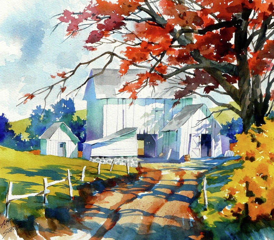 Farm Shadows Painting by Art Scholz