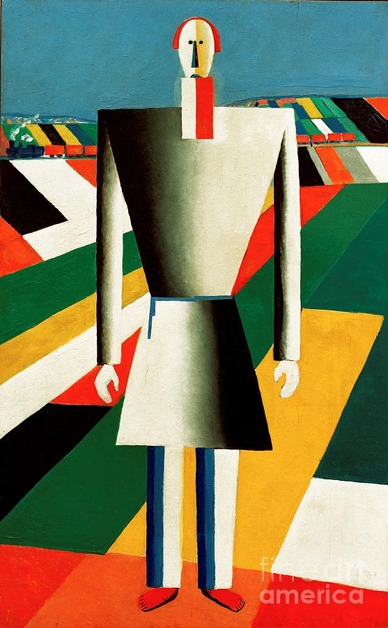 Farmer In The Field Painting By Kazimir Malevich