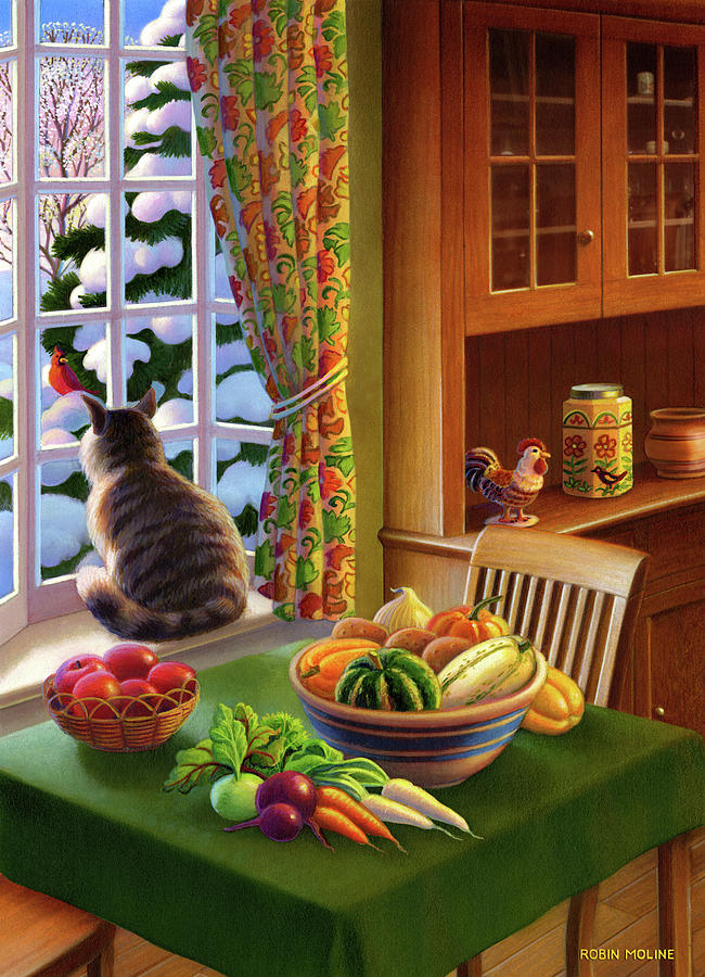 Farmhouse Cat  by Robin Moline
