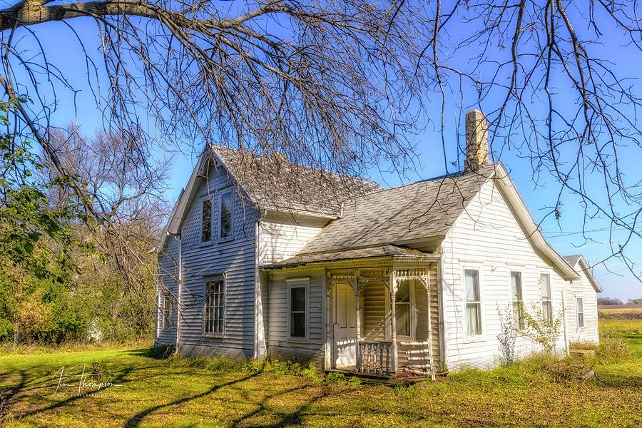 Farm Life Photograph - Farmhouse by Jim Thompson