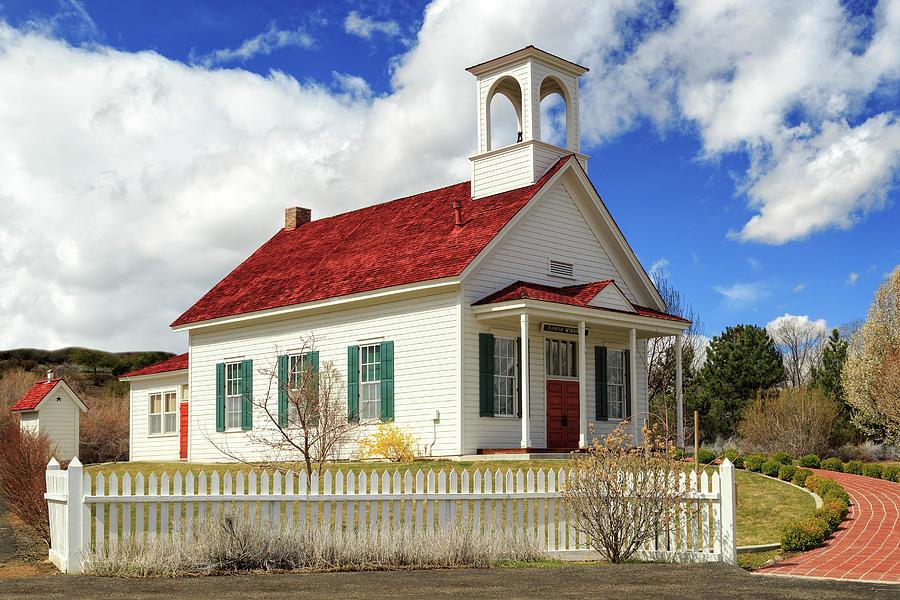 Farmhouse School In Color by James Eddy