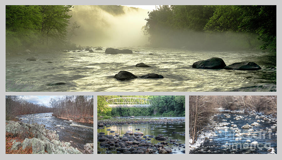 Farmington River Collage by Tom Cameron
