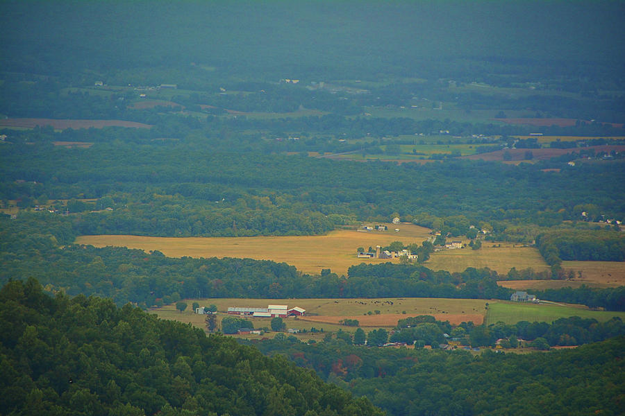 Farmland from Shenandoah National Park by Raymond Salani III