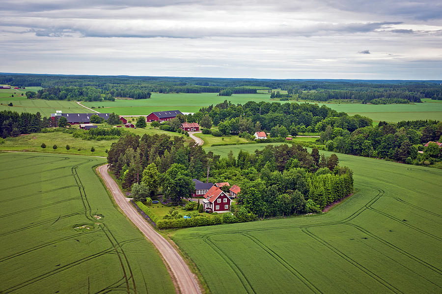 Farms And Fields In Sweden North Europe Photograph by Pavliha