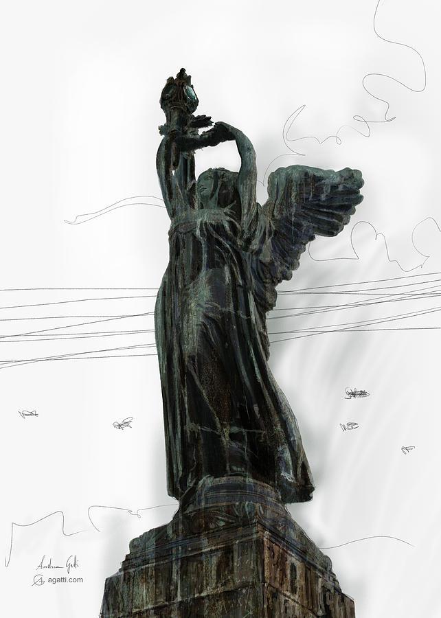 Faro Della Vittoria Statue Digital Art