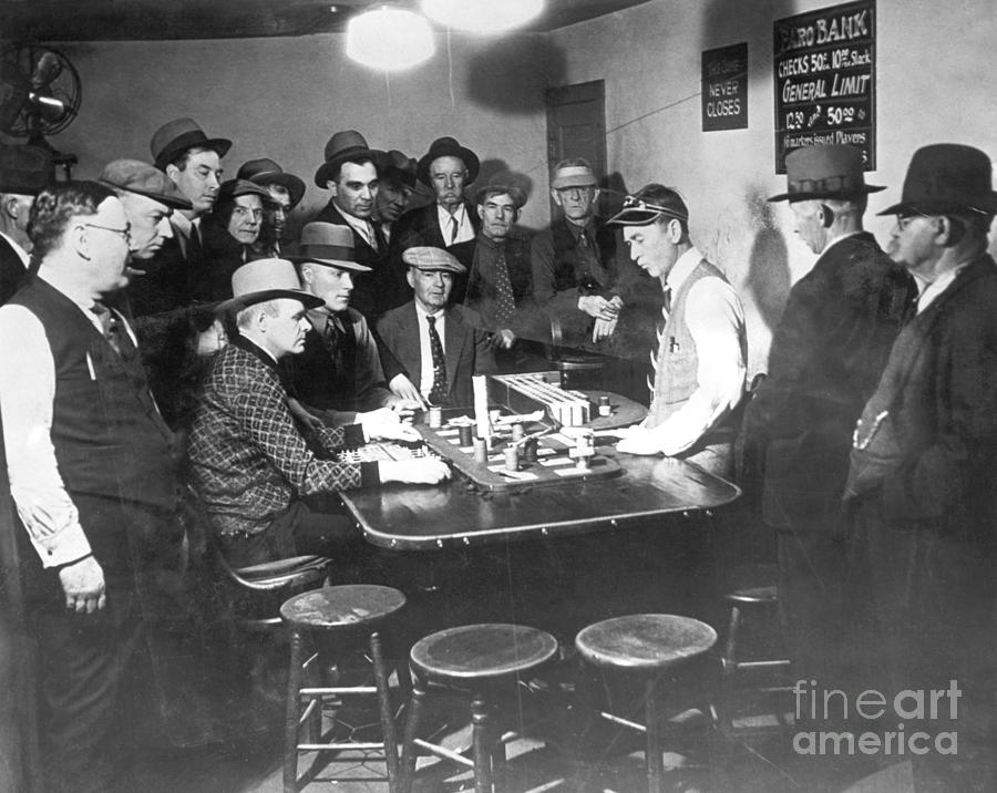 Faro Gambling House After Legalization Photograph by Bettmann