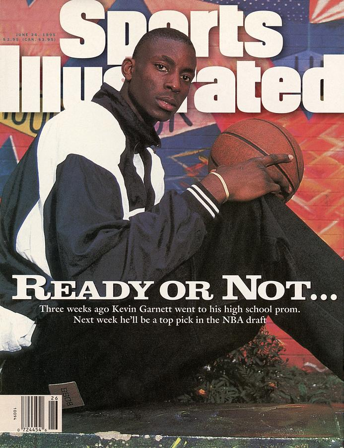 Farragut Career Academy Kevin Garnett, 1995 Nba Draft Sports Illustrated Cover Photograph by Sports Illustrated
