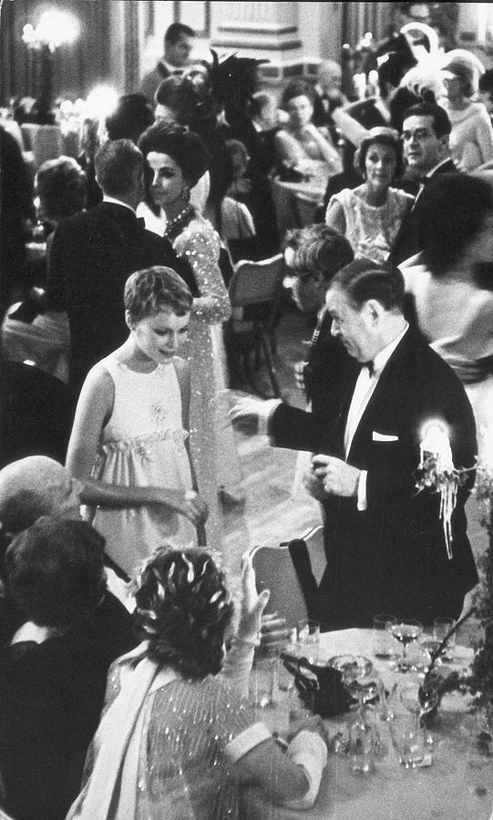 Farrow & Sorenson At Black & White Ball Photograph by Fred W. McDarrah