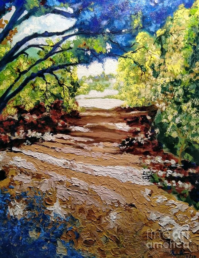 Trail Painting - Fascinating Trail by Ray Khalife