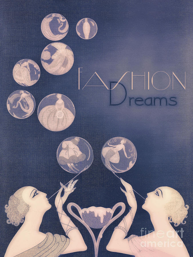 Fashion Dreams Art Deco Whimsical Fashion Designers Painting By Tina Lavoie