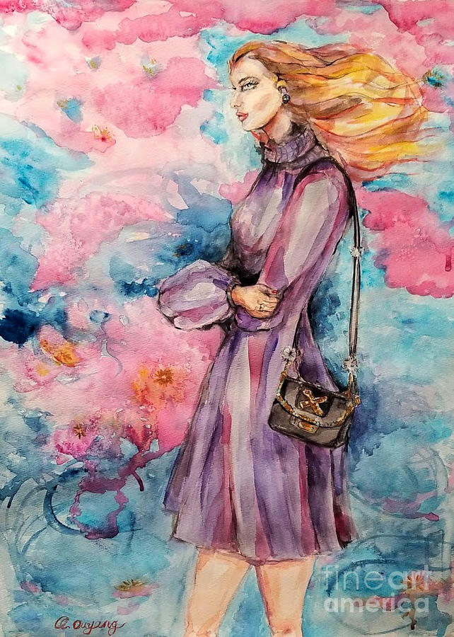 Fashion Girl with Pink Background by QQ Ouyang