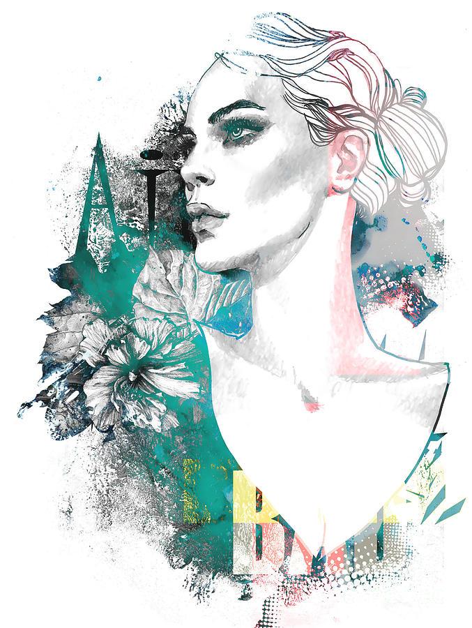 Fancy Digital Art - Fashion Illustration With A Freehand by Alisa Franz
