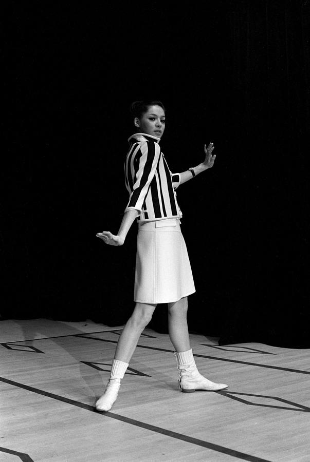 Fashion Mini Dress Courreges In France Photograph by Reporters Associes