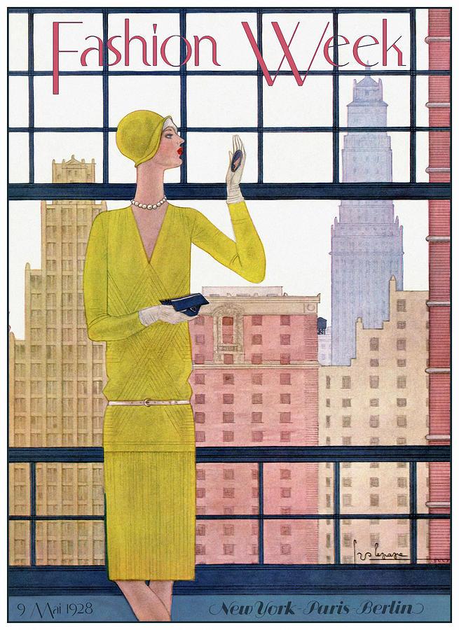 Illustration Mixed Media - Fashion Women 0048 by Vintage Lavoie
