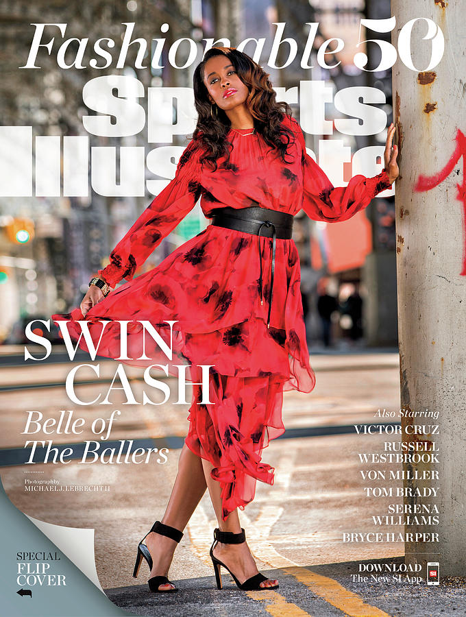 Fashionable 50 New York Liberty Forward Swin Cash Sports Illustrated Cover Photograph by Sports Illustrated