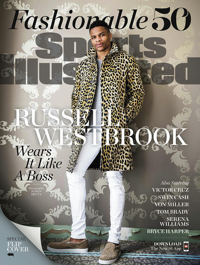 Fashionable 50 Oklahoma City Thunder Guard Russell Westbrook Sports Illustrated Cover Photograph by Sports Illustrated