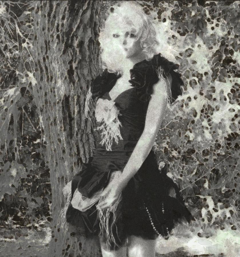 Fashionista by the Tree by Mario Carini