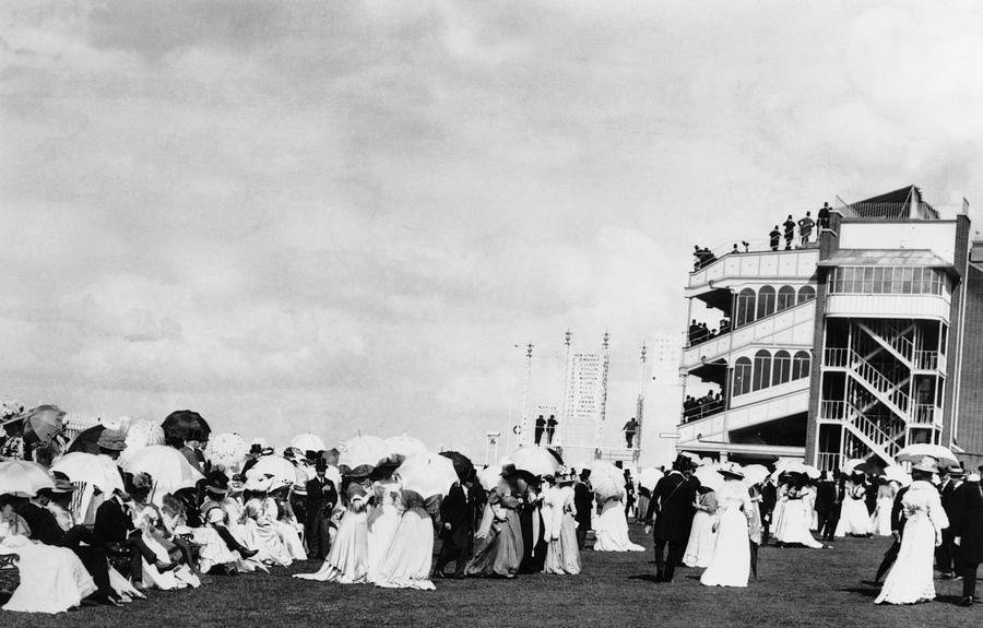 Fashions At Ascot Photograph by Hulton Archive