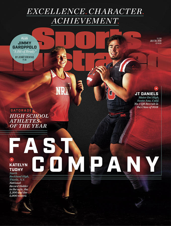 Fast Company 2018 Gatorade High School Athletes Of The Year Sports Illustrated Cover Photograph by Sports Illustrated