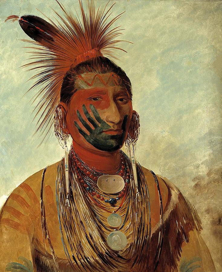 Fast Dancer, A Warrior Painting by George Catlin