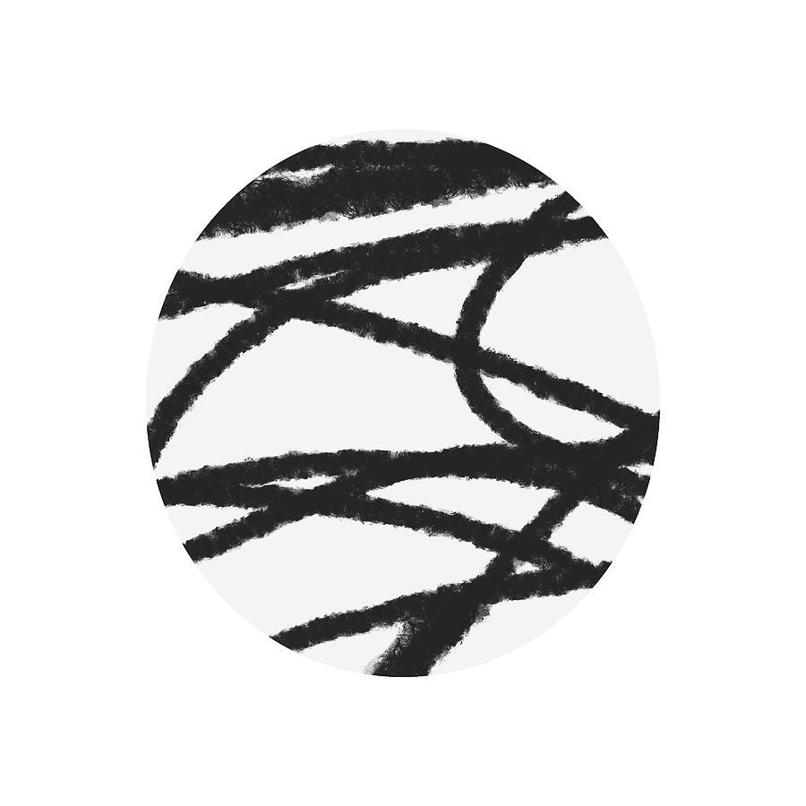 Modern Mixed Media - Fastball 2- Modern Art By Linda Woods by Linda Woods