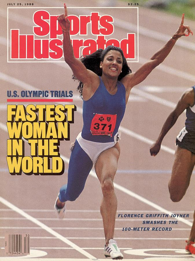 Fastest Woman In The World Florence Griffith-joyner Smashes Sports Illustrated Cover Photograph by Sports Illustrated