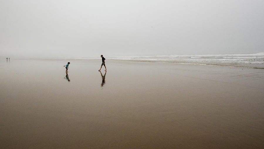 Father and Son in Fog by Tom Cochran