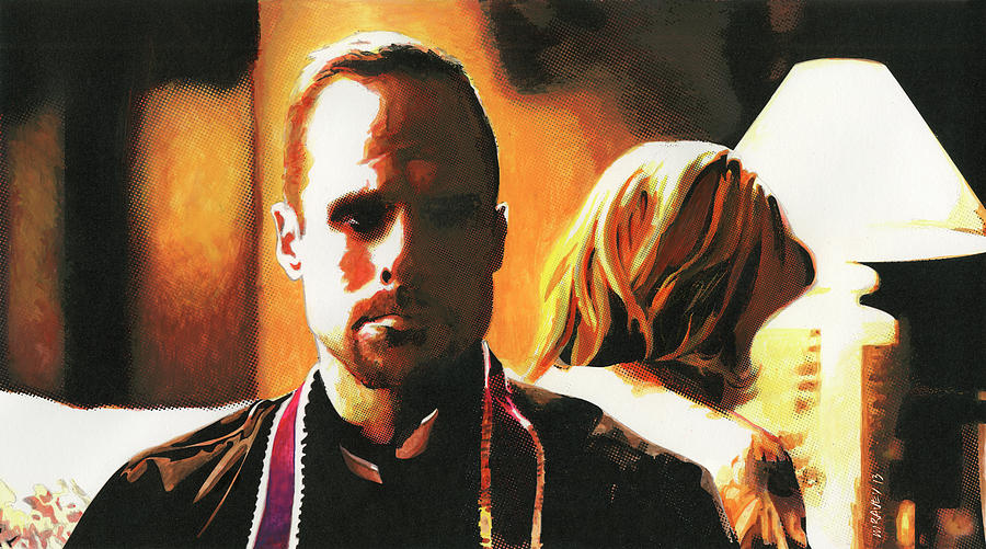 The Sopranos Painting - Father Phil by Michel Ravey