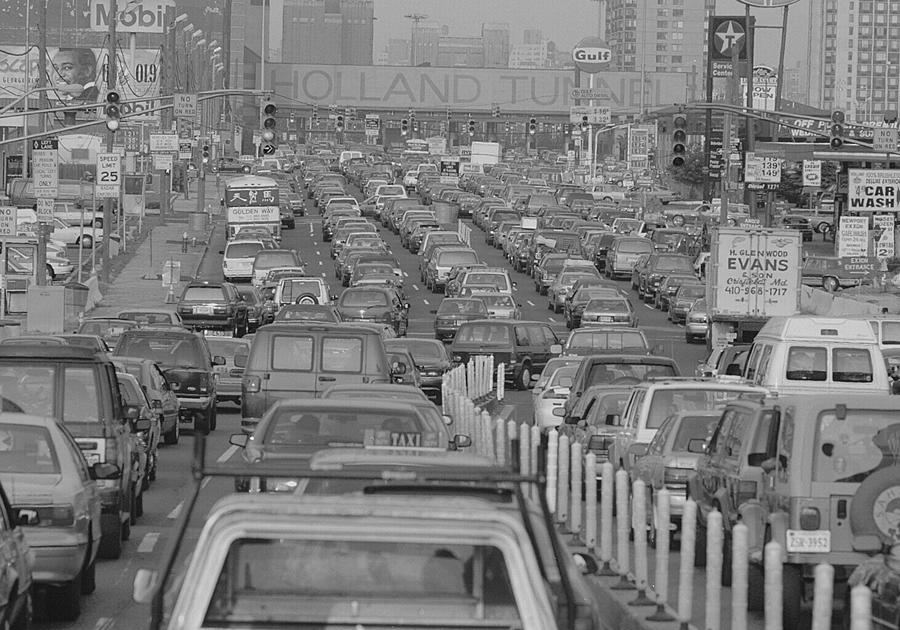 New Jersey Photograph - Fathers Day Traffic At The Holland by New York Daily News Archive