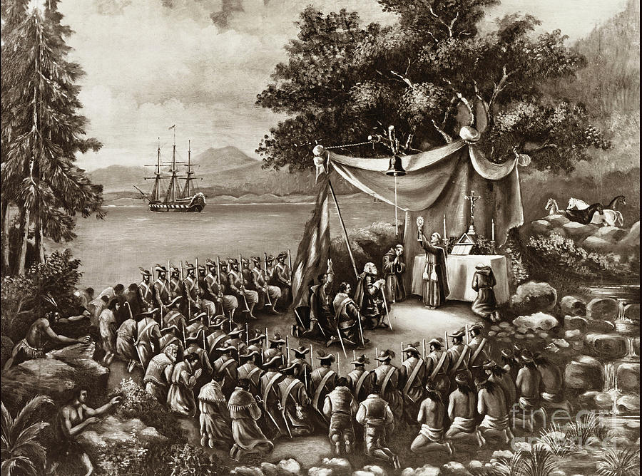 Father's Serra's Landing Place the First Mass,  Monterey attribu by California Views Archives Mr Pat Hathaway Archives