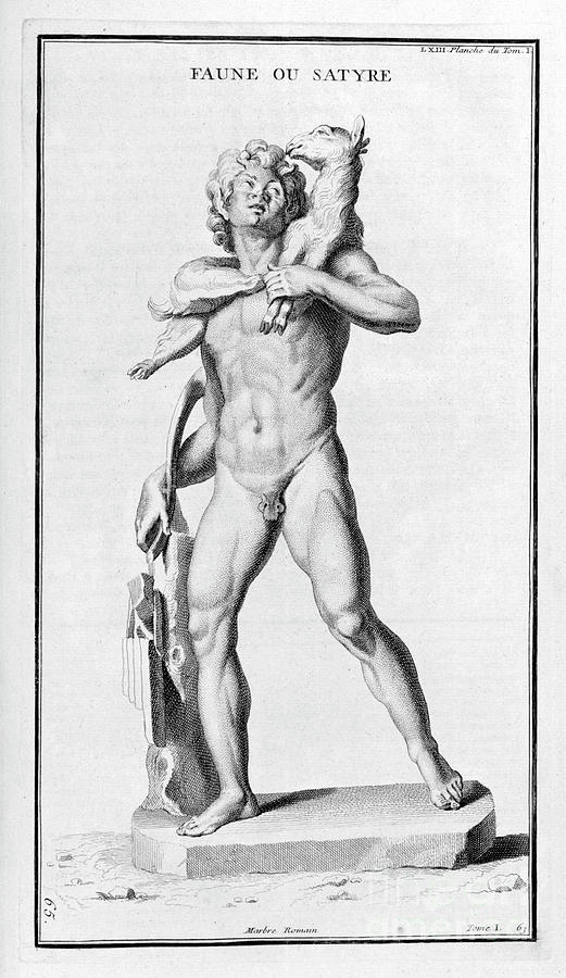 Faun Or Satyr, After A Roman Statue Drawing by Print Collector