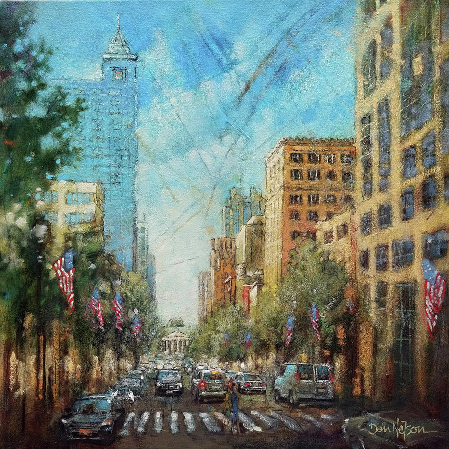 Fayetteville Street Square Painting