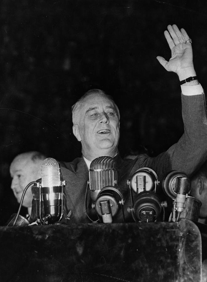 Fdr Re-elected Photograph by Fox Photos