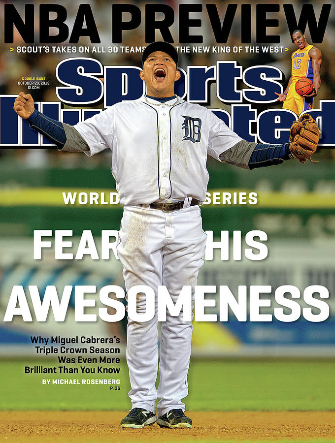 Fear His Awesomeness 2012 World Series Preview Sports Illustrated Cover Photograph by Sports Illustrated
