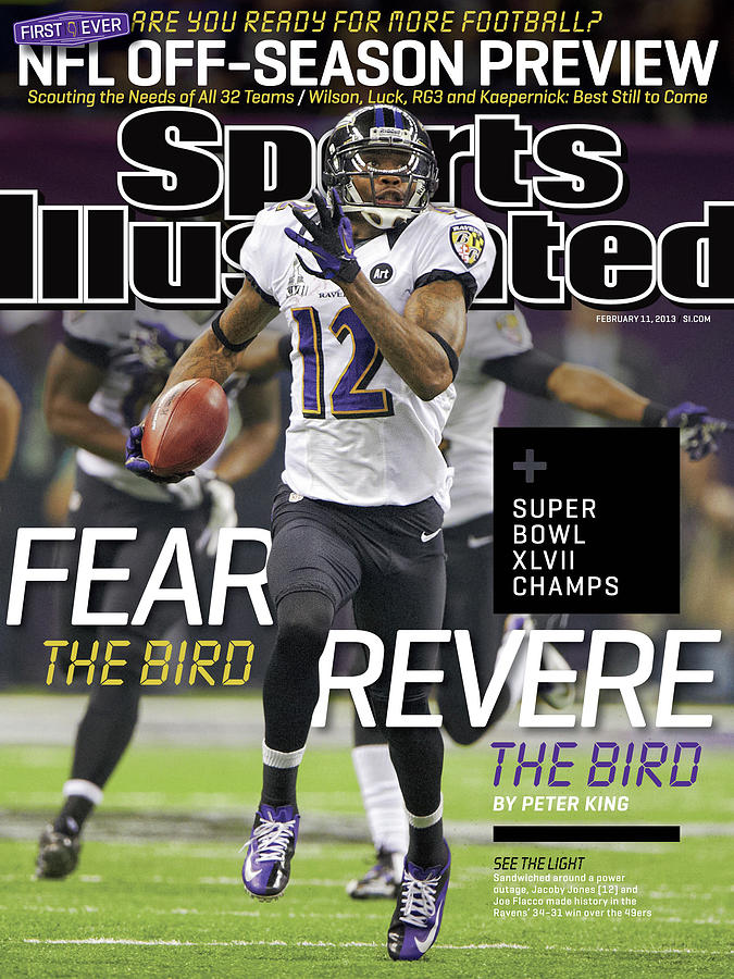Fear The Bird, Revere The Bird Super Bowl Xlvii Champs Sports Illustrated Cover Photograph by Sports Illustrated