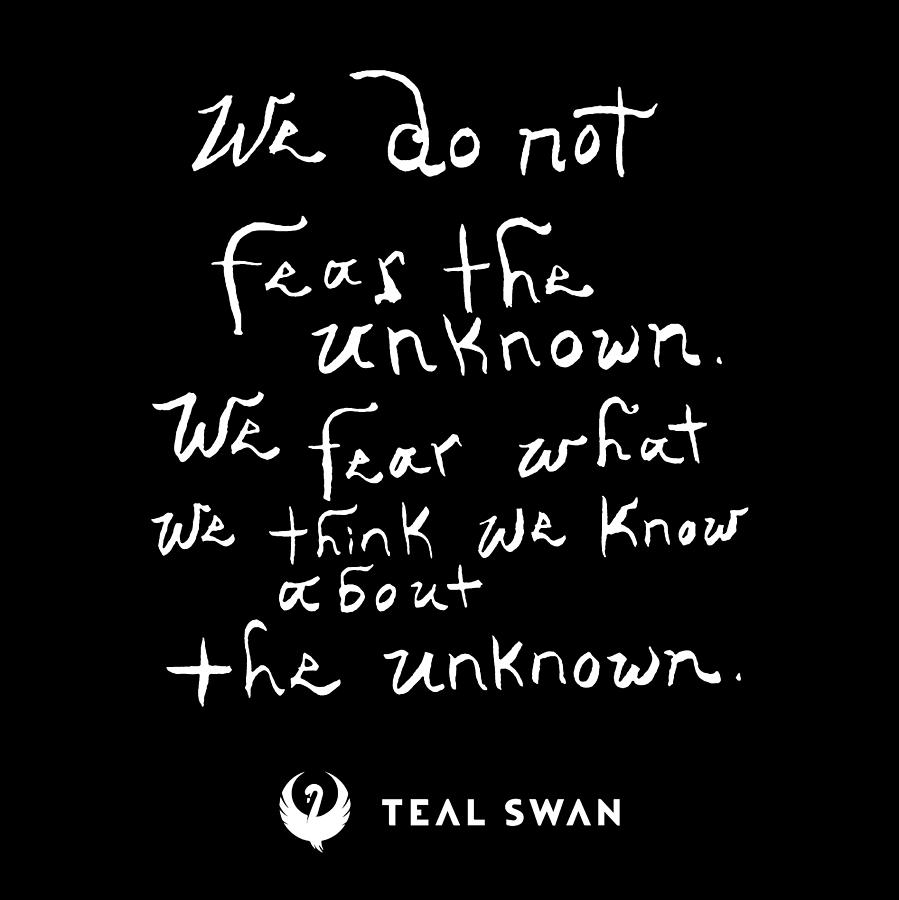 Fear The Unknown Quote by Teal Eye Print Store