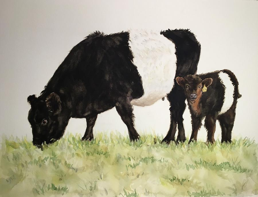 Fearrington Belted Galloway Cows by Kathy Flood
