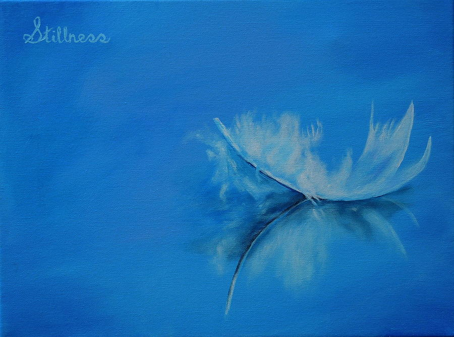 Feather Floating - Stillness by Shirley Wellstead