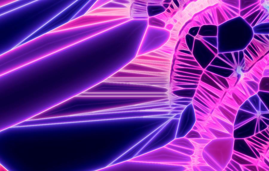 Feathers Purple Neon by AJP