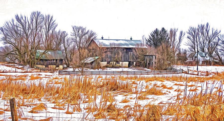 February Farm - Paint Photograph